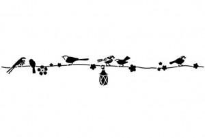 F-noires ombres oiseaux