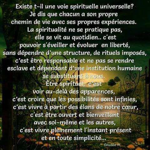 VOIE SPIRITUELLE