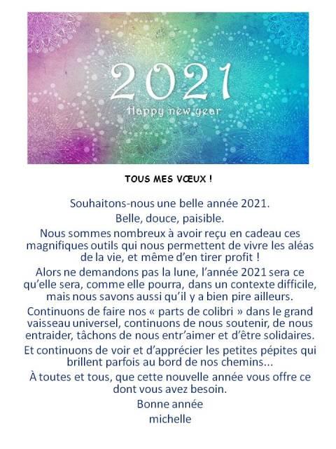 2021-TOUS MES VŒUX !